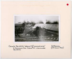 Primary view of object titled '[Wreckage of the Louisiana Limited]'.
