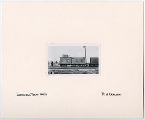Primary view of object titled '[T&P Caboose #2448 in Longview, Texas]'.