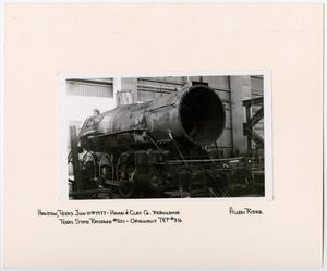 Primary view of object titled '[Train Engine Being Rebuilt]'.