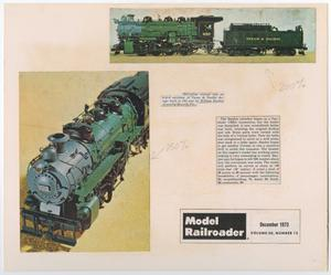 Primary view of object titled '[First Prize Winning Model Train in Model Railroader]'.