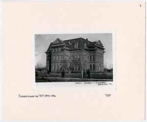 Primary view of object titled '[Public School in Sherman, Texas]'.