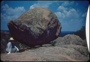 Primary view of object titled '[Beside Balanced Rock]'.