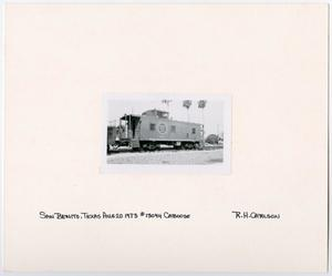 Primary view of object titled '[Caboose #13094 in San Benito, Texas]'.