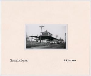 Primary view of object titled '[T&P Depot in Bunkie, Louisiana]'.
