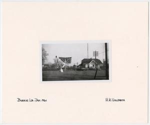 Primary view of object titled '[T&P Train Stop in Bunkie, Louisiana]'.