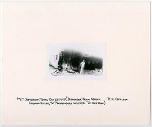 Primary view of object titled '[Passenger Train Wreck in Jefferson, Texas]'.