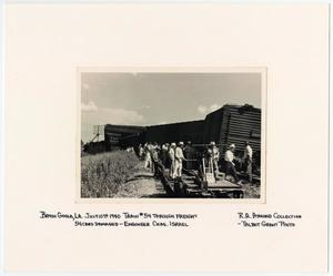Primary view of object titled '[T&P Train #54 Wrecked in Bayou Goula, Louisiana]'.