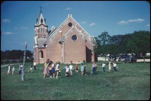 Primary view of object titled '[Easter Egg Hunt at Ebenezer Lutheran Church]'.