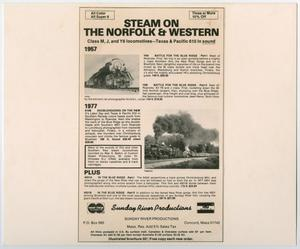 Primary view of object titled '[Sunday River Productions Advertisement]'.