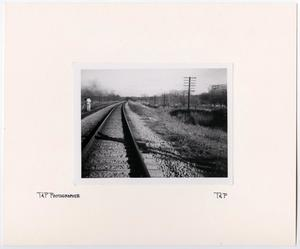 Primary view of object titled '[T&P Photographer on Tracks]'.