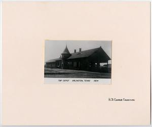 Primary view of object titled '[Train Station in Arlington, Texas]'.