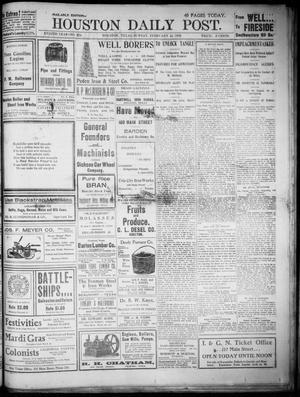 Primary view of object titled 'The Houston Daily Post (Houston, Tex.), Vol. XVIIITH YEAR, No. 324, Ed. 1, Sunday, February 22, 1903'.