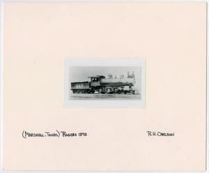 Primary view of object titled '[Train #243 in Marshall, Texas]'.