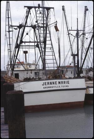 Primary view of object titled '[Shrimp Boats at Port Isabel]'.