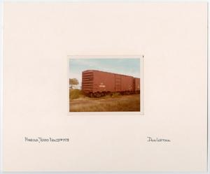 Primary view of object titled '[T&P Train Car in Mineola, Texas]'.