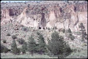 Primary view of object titled '[Frijoles Canyon at Bandelier National Monument]'.