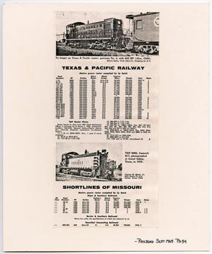 Primary view of object titled '[Texas & Pacific Railway Roster]'.