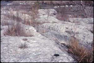 Primary view of object titled '[Limestone Erosion at Guadalupe River]'.