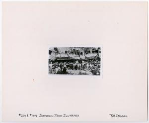Primary view of object titled '[Train Wreck Group Photo]'.