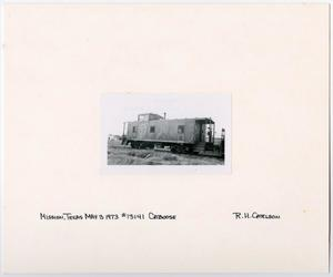 Primary view of object titled '[Caboose #13141 in Mission, Texas]'.