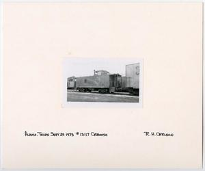 Primary view of object titled '[Caboose #13117 in Alamo, Texas]'.