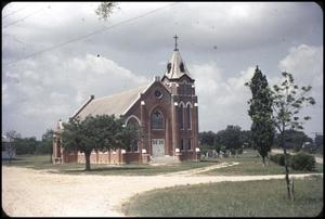 Primary view of object titled '[Ebenezer Lutheran Church in Maxwell, Texas]'.