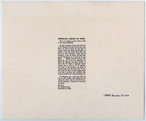 Primary view of object titled '[NMRA Bulletin Letter Response]'.