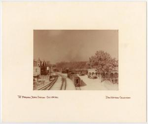 Primary view of object titled '[Train Station in Marshall, Texas]'.