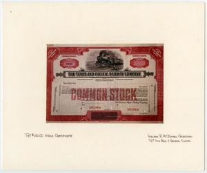 Primary view of object titled '[Texas and Pacific Stock Certificate]'.