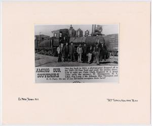 Primary view of object titled '[Magazine Clipping of T&P Train #147]'.