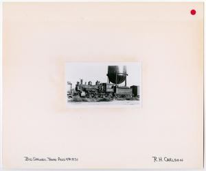 Primary view of object titled '[T&P Train #256 in Front of a Water Tower 2]'.