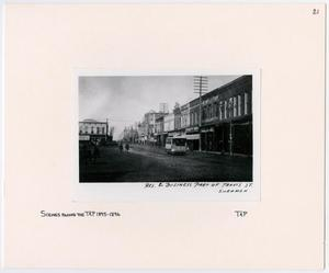 Primary view of object titled '[Travis Street in Sherman, Texas]'.