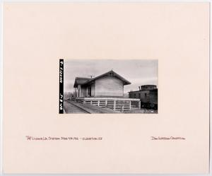 Primary view of object titled '[Train Station in Livonia, Louisiana]'.