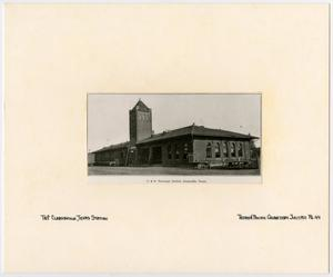 Primary view of object titled '[Train Station in Clarksville, Texas]'.