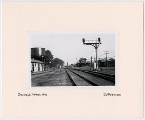 Primary view of object titled '[Train Yards in Bunkie, Louisiana]'.