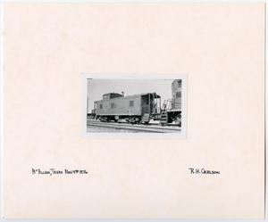 Primary view of object titled '[Missouri Pacific Caboose in McAllen, Texas]'.