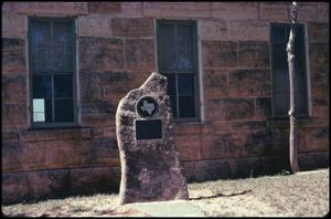 Primary view of object titled '[Schoolhouse in Luckenbach, Texas]'.