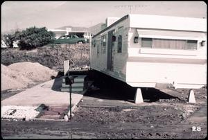 Primary view of object titled '[Displaced Trailer at Lopez Canyon]'.