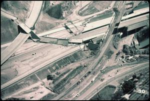 Primary view of object titled '[Aerial View of a Collapsed Overpass]'.
