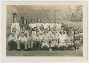 [Photograph of Salado High School 1943 Class]