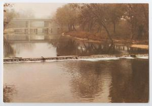 Primary view of object titled '[Postcard of Salado Creek Dam in Fall]'.