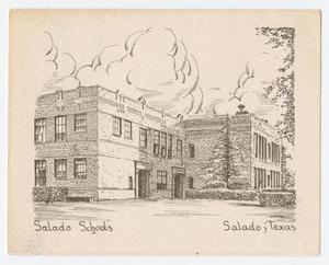 [Pen and Ink Drawing of the Salado Schools Building]