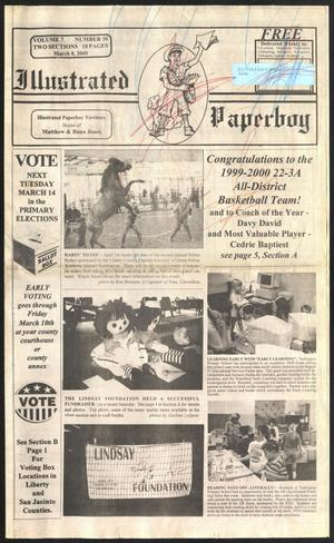 Primary view of object titled 'Illustrated Paperboy (Cleveland, Tex.), Vol. 7, No. 50, Ed. 1 Wednesday, March 8, 2000'.