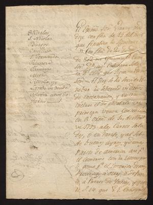 Primary view of [Royal Orders from Manuel de Iturbe]