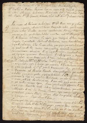 Primary view of [Correspondence Between Bartolomé Martínez and Joseph Fernando Vidaurre]