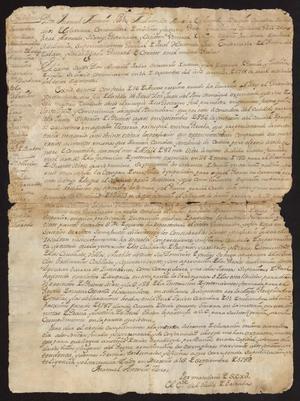 Primary view of [Decree from Viceroy Manuel Antonio Flores Maldonado]