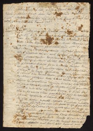 Primary view of [Decree from Governor Melchor Vidal de Larca y Villena]