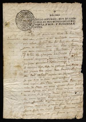 Primary view of [Message from José de Jesús de la Garza]