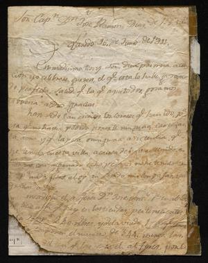 Primary view of object titled '[Letter from Juan Antonio Juangorena to José Ramón Díaz de Bustamente, June 16, 1811]'.