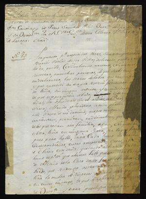 Primary view of [Notice from Santiago de Jesús Sánchez]
